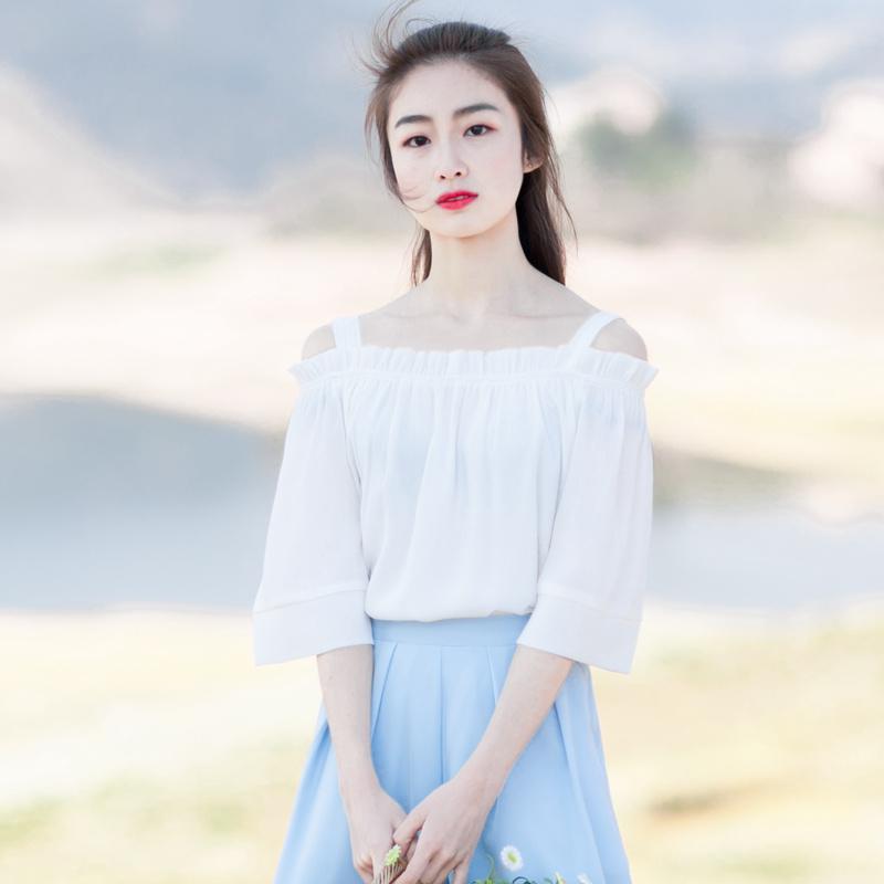 纯白色女士小衫