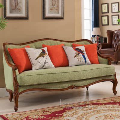 新款弧形二三23多人座位实木质美容店 单个独立体小形型布皮沙发打折促销