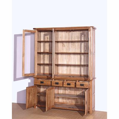 实木书柜 现代三门书柜 白橡木 纯实木 欧式简约实体店