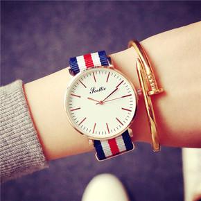 韩版简约潮流时尚休闲手表男女生中学生情侣一对李易峰同款石英表