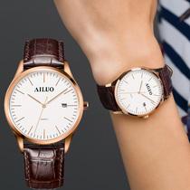创意商务女士真皮带瑞士手表复古潮流石英女表礼物礼品新款