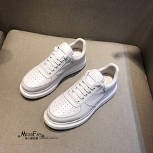 Miss Fei Baopu New Nurse Shoes with Soft Bottom, Heightened Shoes, Cowhide Shoes, Small White Shoes, Slip-proof and Air-permeable Pregnant Women's Shoes
