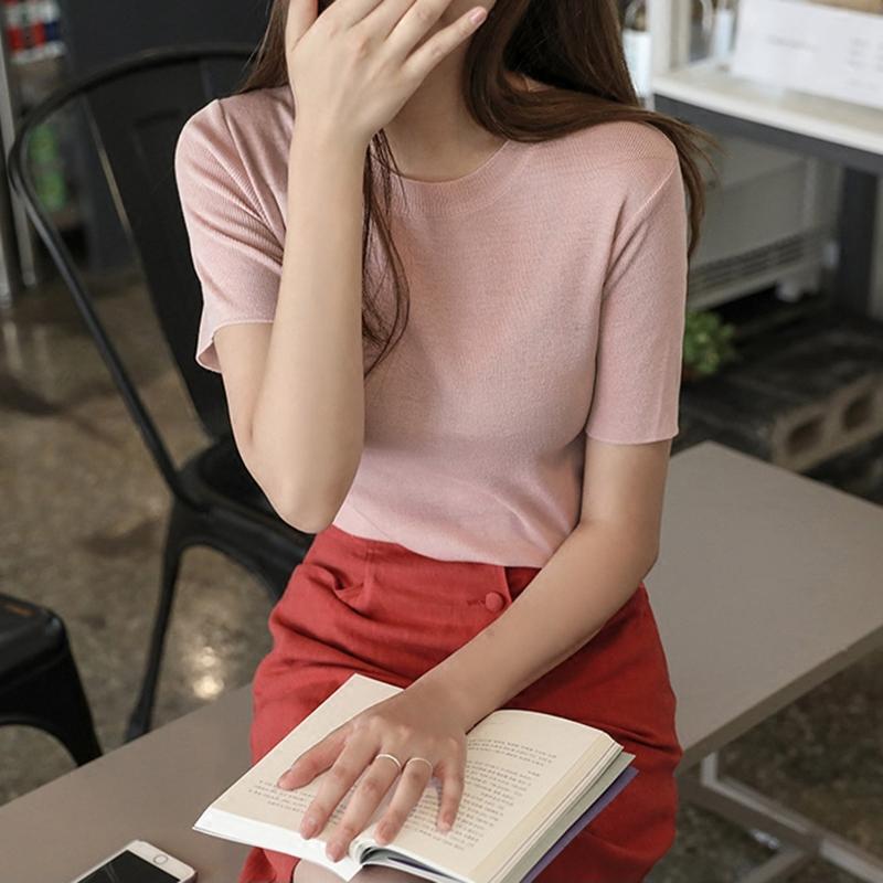 原创短袖针织衫