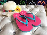 Fipper slim flip flops natural rubber beach shoes vacation casual authentic