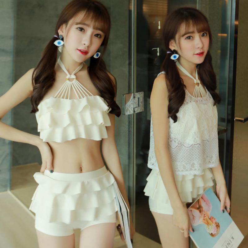 韩国小清新分体裙式泳衣3件5元优惠券