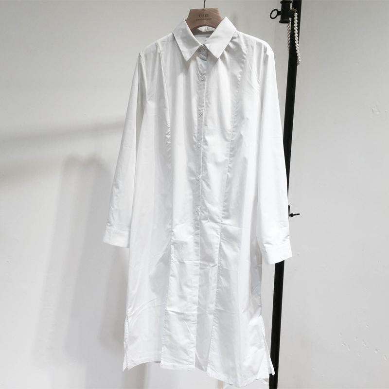 春秋款纯白色连衣裙