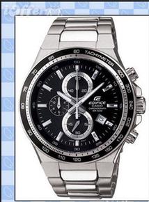 卡西欧大表盘防水商务男表 赛车运动钢带男式手表 EF-546D-1A 7A