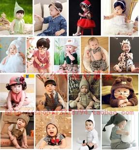儿童摄影服装/上海2017展会新款/韩版/影楼百天周岁婴儿拍照服饰