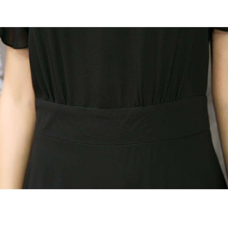 17年爆款雪纺长裙连衣裙女夏2017新款气质长款30岁
