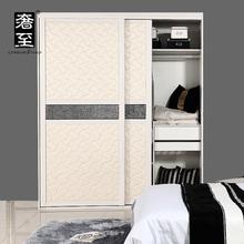 奢至 软包皮门移门推拉门趟门衣橱衣柜  环保板材 衣柜定制
