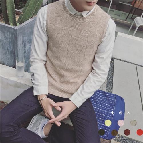 毛线编织背心