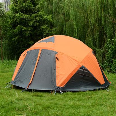 牧高笛黑森林195帐篷多人双层铝杆防风雨登山露营四季帐黑森林150