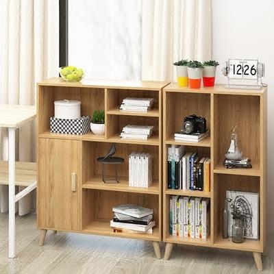 书架落地简约现代简易客厅书橱置物架儿童学生实木组合创意小书柜价格
