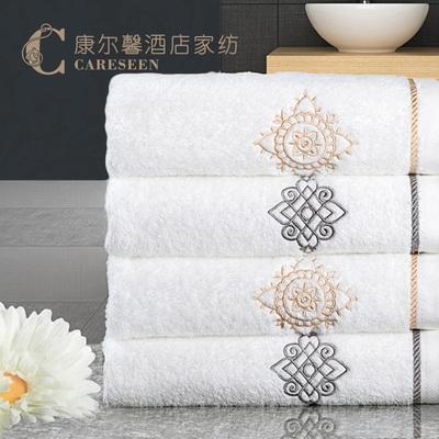 品牌毛巾纯棉吸水加厚款洗脸成人家用宾馆白色批发美容美发2条装