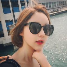 墨镜女潮明星同款猫眼太阳镜女士2018新款韩国复古圆脸个姓眼镜
