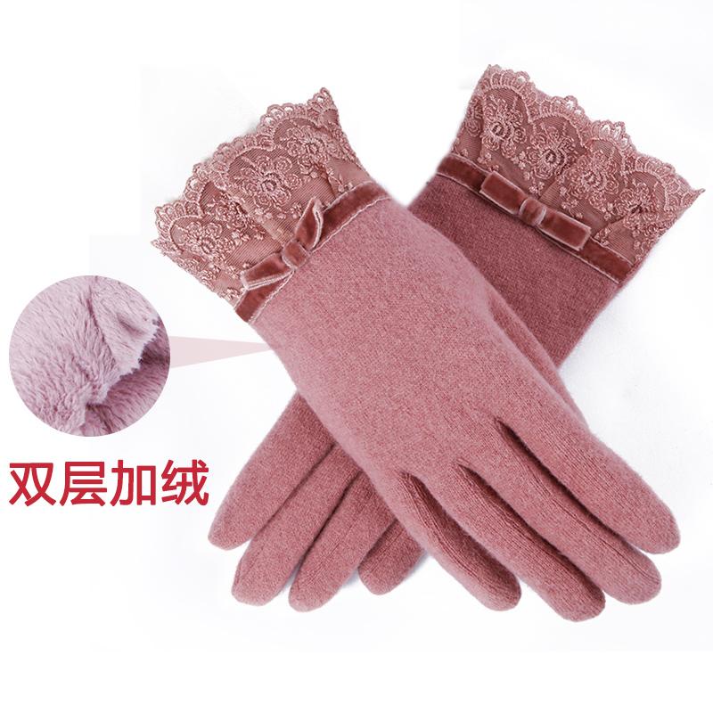 多色羊毛手套