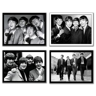 摇滚乐队海报 有框画装饰画挂壁画 Beatles甲壳虫披头士 约翰列侬