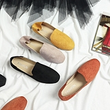 春鞋2019新款豆豆鞋女韩版单鞋平底方头瓢鞋学院英伦风女鞋懒人鞋