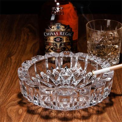 日本进口水晶玻璃烟灰缸雪茄烟缸时尚精品欧式烟缸男士烟缸