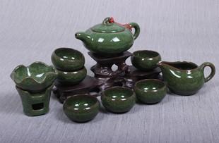 冰裂釉紫砂茶具套装陶瓷汝窑功夫茶具整套实木茶盘礼盒特价包邮
