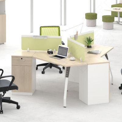 定制 职员办公桌员工台工作位 钢架组合三人位电脑桌写字台牌子口碑评测