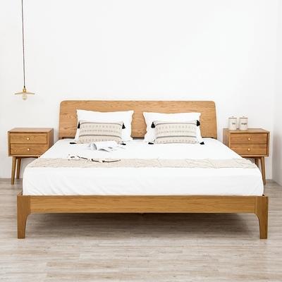 日式全实木床