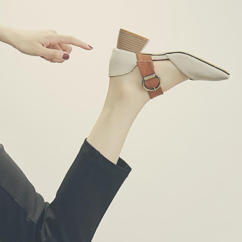 跟玛丽珍单鞋一字扣