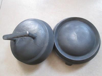 舌尖山西太行鏊子摊黄子锅米黄锅烙糕煎饼加厚铸铁鏊子饼折锅