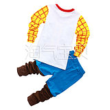 Pajamas children's clothing home children's long-sleeved cotton suit boys pajamas Hu Di cartoon autumn and winter models specials