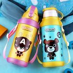 儿童夏季水杯带吸管保温杯成人幼儿园小孩子防漏水壶可爱便携防摔