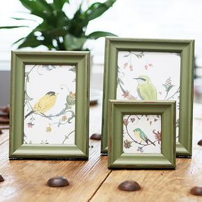 柔软时光美式画框相框新西兰松木实木创意挂墙相片墙摆台3 6 7寸