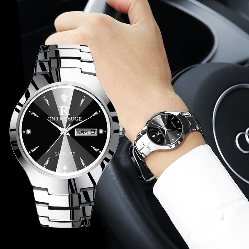 钨钢商务手表