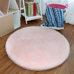 众弘 弹力丝圆形地垫丝毛加厚 电脑椅垫吊篮地垫 简约现代床边