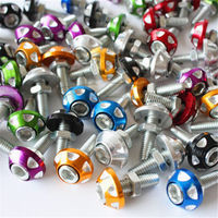 Motorcycle modification parts modified color carved license plate screw motorcycle screw cap tip color screw
