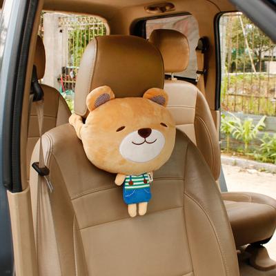 创意汽车头枕四季卡通车载座椅靠枕儿童车用护颈枕头可爱车内饰品