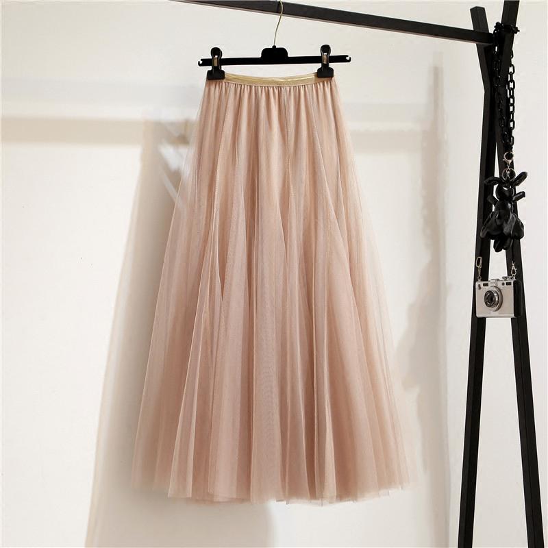 春季长裙半身裙中腰