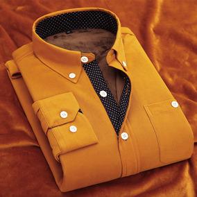 冬季休闲男士衬衣修身型长袖商务男装寸衫加厚加绒保暖灯芯绒衬衫