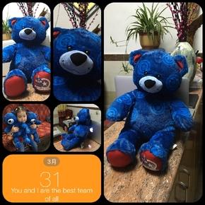 圣诞节 帽子 小熊 电影周边 蓝色 泰迪熊 小熊 毛绒玩具 节日礼品