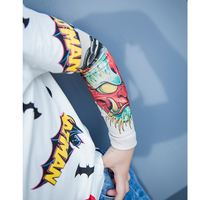 Lin Lin children's clothing boy ice sleeve cotton summer infant child personality hip hop street Han Fan tattoo sleeve