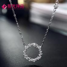 新光饰品人鱼传说时尚韩剧女主个性定制项链925银人造锆石短链