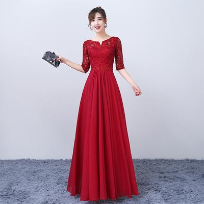 合唱服长裙学生学院晚礼服女2018新款长款大合唱团演出服年会礼服