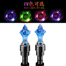 2017 new bicycle diamond nozzle lamp car motorcycle valve light mountain bike colorful hot wheels equipment