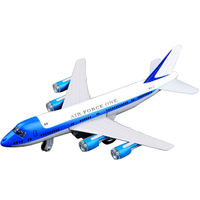 Caipo alloy civil aviation air force No. 1 passenger aircraft Boeing 777 children aircraft toy car aircraft model sound and light version