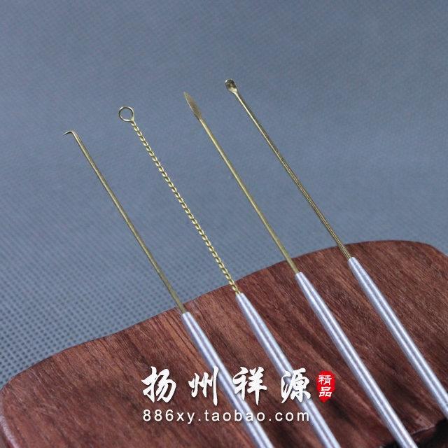 扬州专业采耳工具铝管柄铜挖耳勺 掏耳钩 耳铲 耳环 掏耳勺单根价