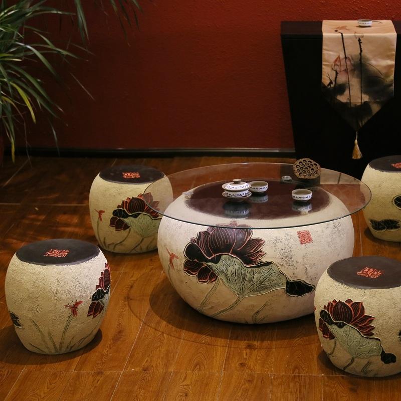 中式茶几装饰