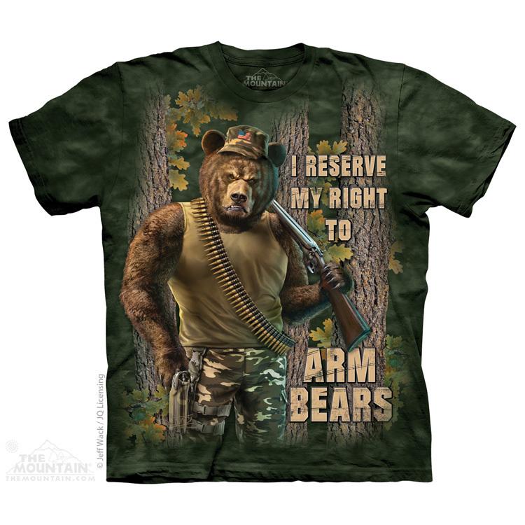 美国染色The Mountain 2018 印第安战熊猎人3dl立体短袖创意T恤男