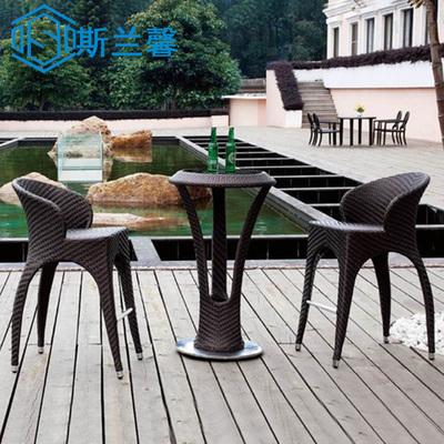 斯兰馨 藤椅茶几三件套 户外庭院吧台吧椅 酒吧餐椅餐桌组合庭院十大品牌