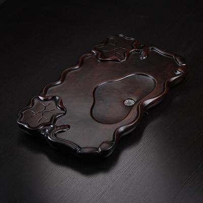茶盘实木家用大号整块平板茶台科技木茶海排水式功夫茶具托盘木头