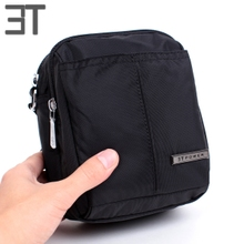 New Hong Kong 3T Leisure Mini Bag Waterproof and Wear Resistant Nylon Slant Bag Korean Edition Neutral Oxford Textile Men's Bag