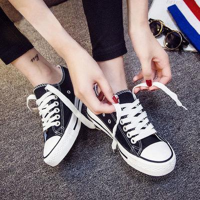 2018球鞋新款小白帆布女鞋秋季板鞋原宿韩版百搭学生ulzzang布鞋